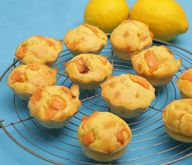 Muffins au saumon et citron : pour un apéro rapide
