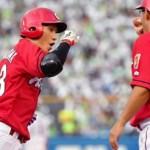 西川龍馬、7日間で先頭打者アーチ3発!「マジ!?」仰天の球団記録