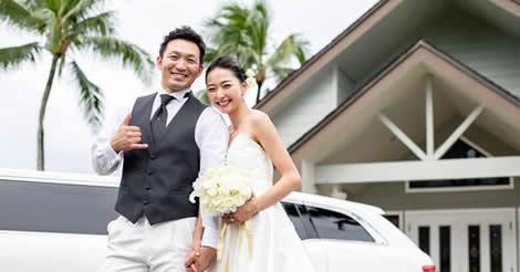 鈴木誠也と畠山愛理が、家族に見守られハワイで挙式!遠距離も愛育む