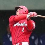 誠也、志願出場で代打二塁打!前日ふくらはぎに打球も「まだ25歳」