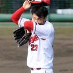 薮田が炎上、開幕ローテ争いから大きく後退…佐々岡監督「次はない」