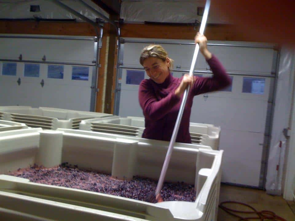 Alexandrine Roy, winemaker for Phelps Creek Vineyards