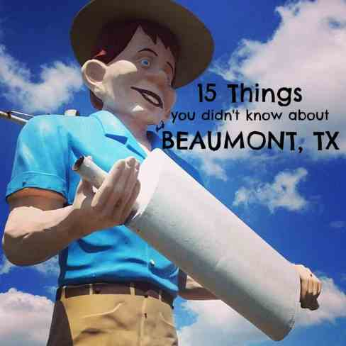 Things to see and do in Beaumont TX  muffler man