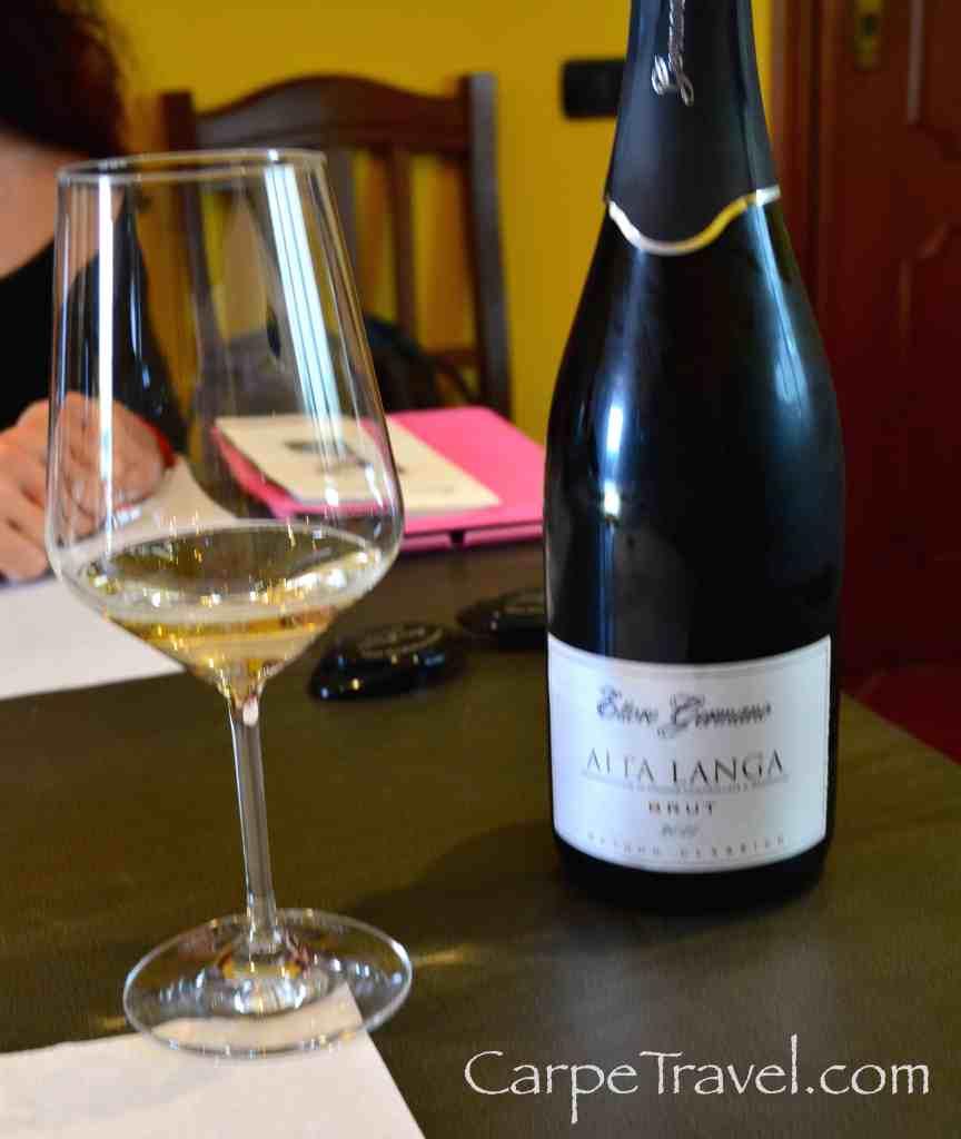 Italian White Wine at Ettore Germano in the Piedmont wine region