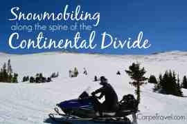 Grand Adventures Snowmobiling Tours: snowmobiling along the spine of continental divide