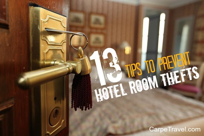 How To Prevent Hotel Room Theft