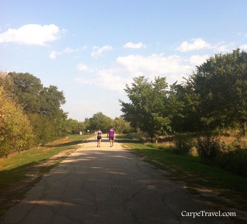 Things to do in Grapevine TX: hiking and biking