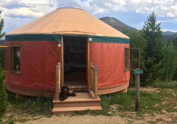 Yurt living at Snow Mountain Ranch. Click over for the full review.