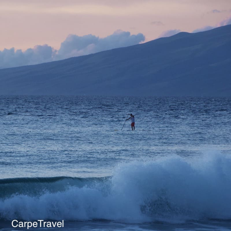 Heading to Maui? Paddle boarding is a must! Read Carpe Travel's in-depth review of the Westin Nanea, luxury all-villa - family friendly - beach resort in Maui.