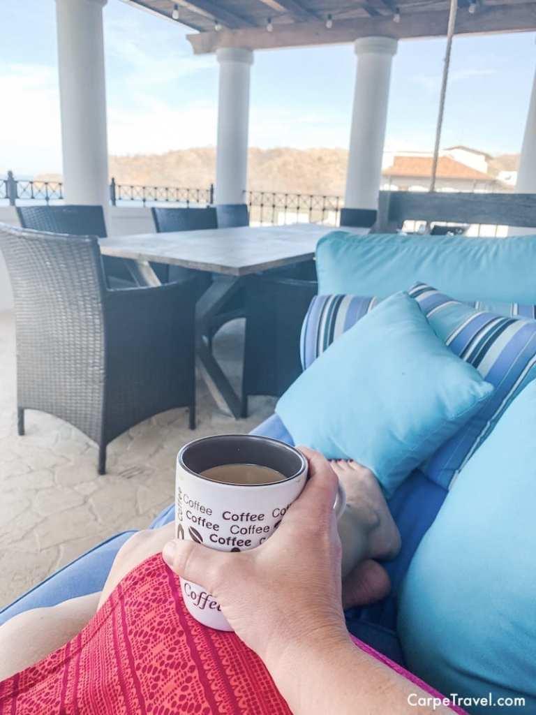 coffee at Las Catalinas