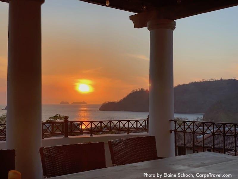 patio sunset at Las Catalinas