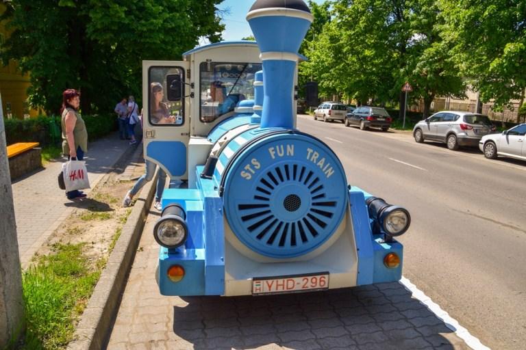 Street train in Tokaj