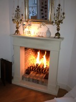 Our fireplace...
