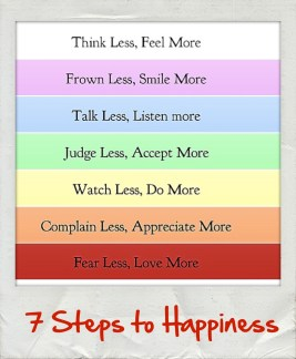 I love these 7 Steps to Happiness