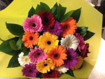 Bouquet of colorful Gerbera flowers - A little present for my Mom Last Wednesday ;)