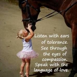 Speak with the language of love!