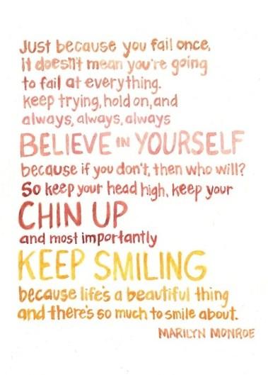 Believe in Yourself - Marilyn Monroe