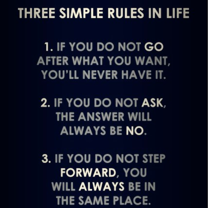 Three Simple Rules in Life!
