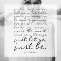 Just Let Go, Just Be