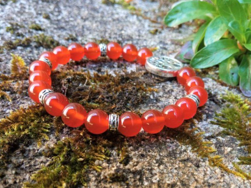 bracelet femme cornaline courage confiance créativité