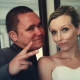 Even on our wedding day...we gotta keep it real. :)