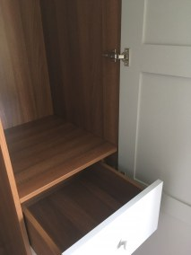 Bespoke Fitted Wardrobe with Walnut effect drawer box