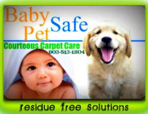 Baby Safe Solutions used by Courteous Carpet Care