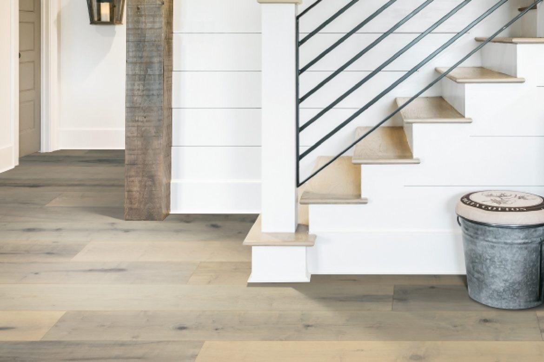 Karastan Hardwood And Luxury Vinyl Carpet Plus In   Vinyl And Carpet Stairs   Thin   Indoor   Light   Low Pile   Laminate