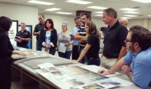 The group reviewing new products