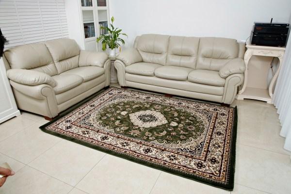 שטיח קלאסי דגם מדליון ירוק