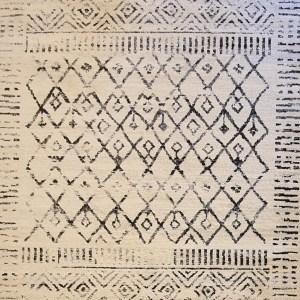שטיח ברבר שחור לבן 01