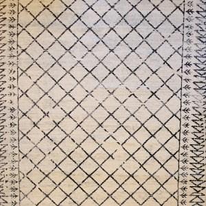 שטיח ברבר שחור לבן 03