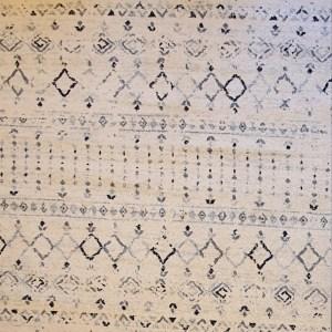 שטיח ברבר שחור לבן 07