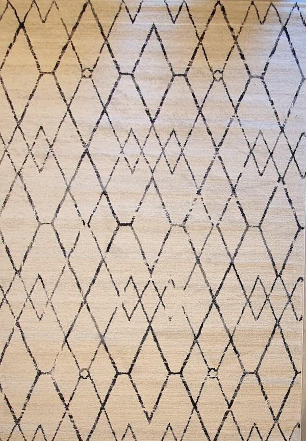 שטיח ברבר שחור לבן 09
