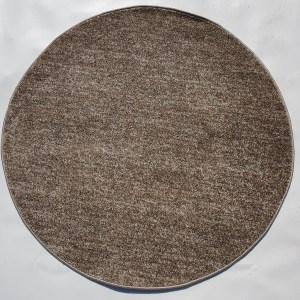 שטיח עגול צבע חום