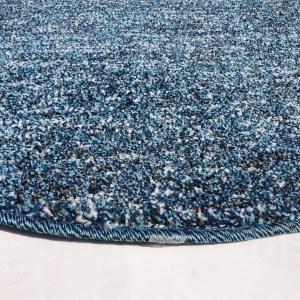 שטיח עגול צבע טורקיז (2)