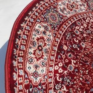 שטיח קלאסי עגול צבע אדום (2)