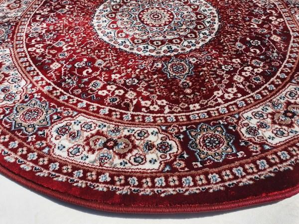 שטיח קלאסי עגול צבע אדום (3)