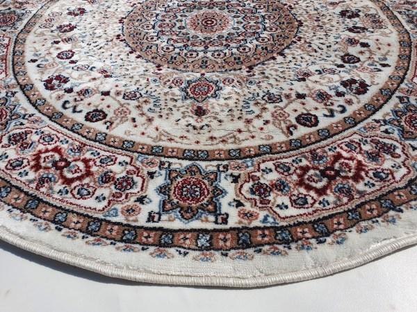 שטיח קלאסי עגול צבע כרם (3)