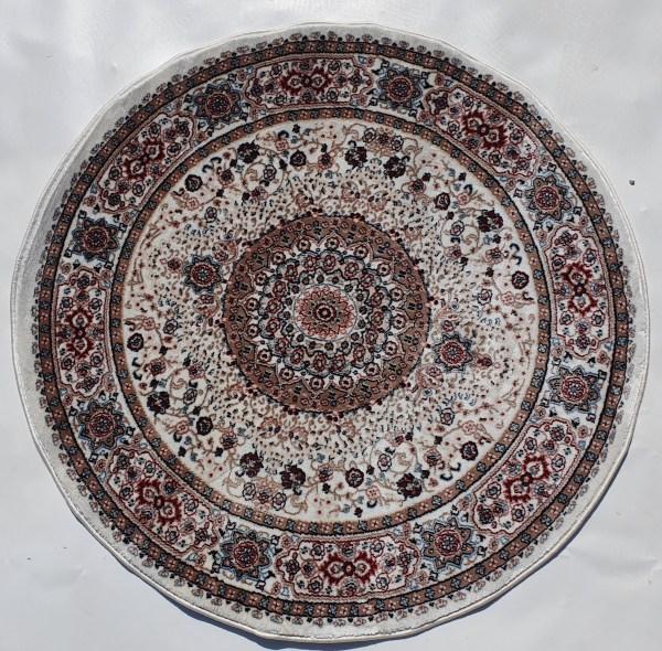 שטיח קלאסי עגול צבע כרם