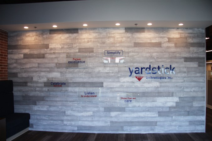 Yardstick Technologies Feature Wall