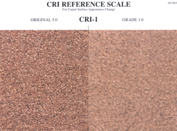 carpet texture retention warranty cri reference scale