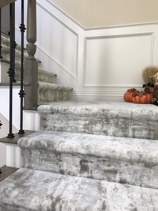 How Carpet Makes Stairs Safer Quieter And Prettier Carpet | Designer Carpet For Stairs | Stair Railing | Farmhouse | Classical Design | Style New York | Rectangular Cord Treads