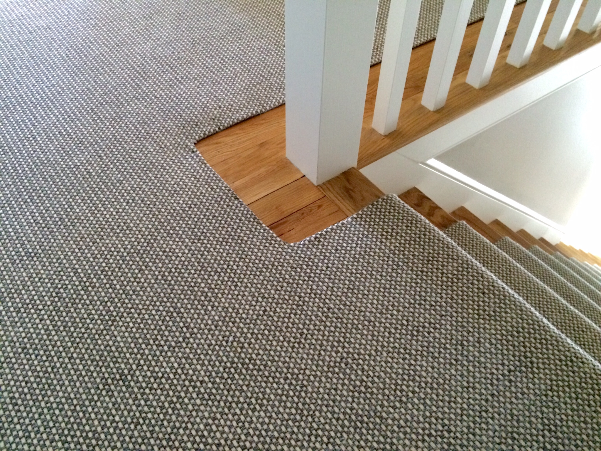 Merida Flat Woven Wool Stair Runner By The Carpet Workroom   Durable Carpet For Stairs   High Traffic   Flower Design   Low Pile   Masland   Stair Treads