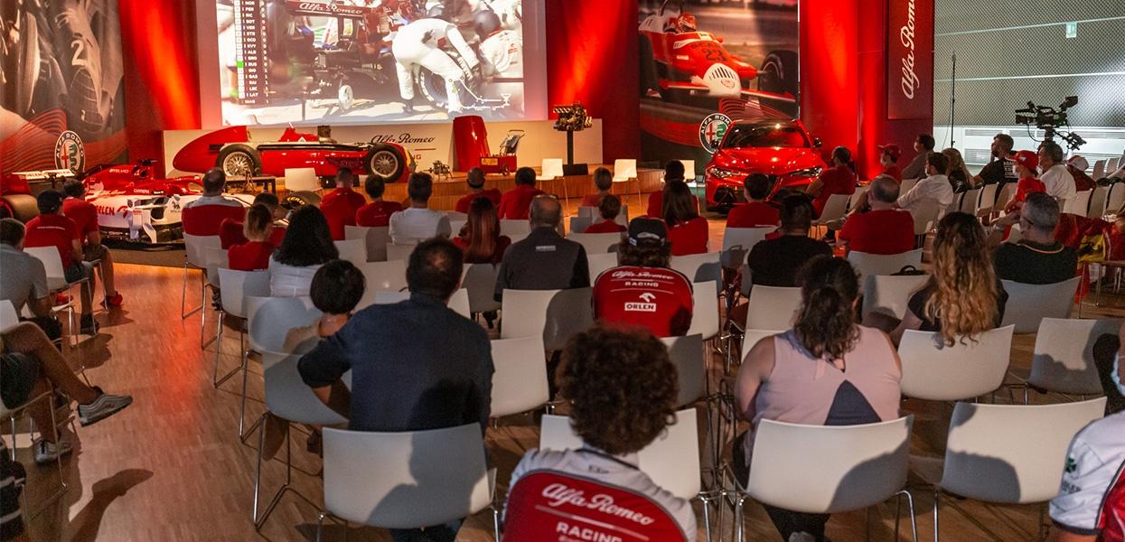 Alfa Romeo Flies the Italian Flag at the Monza Grand Prix