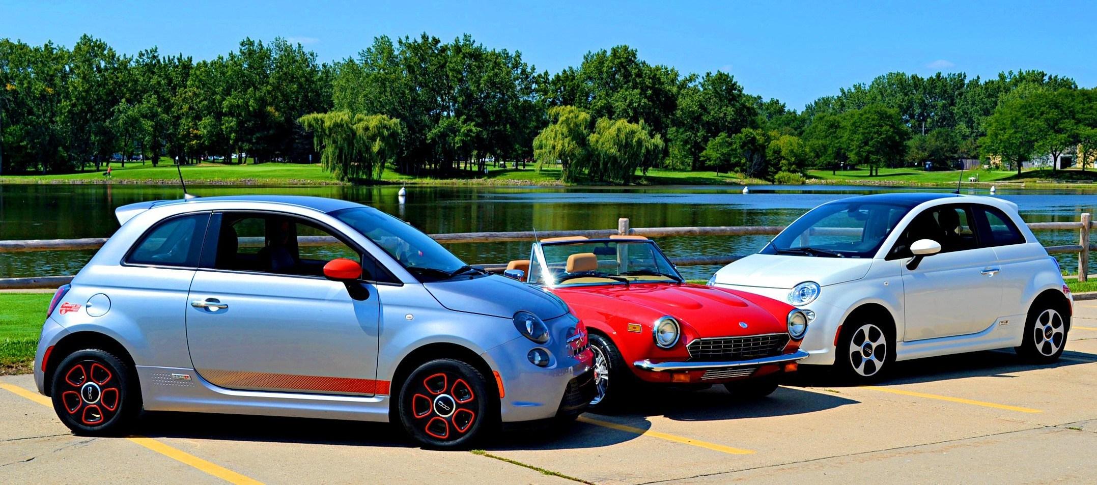 Fiat 500e and Roadster Salon Spider EV Jr.