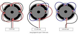 re audio pair of 10 destroyers quad coil need wiring