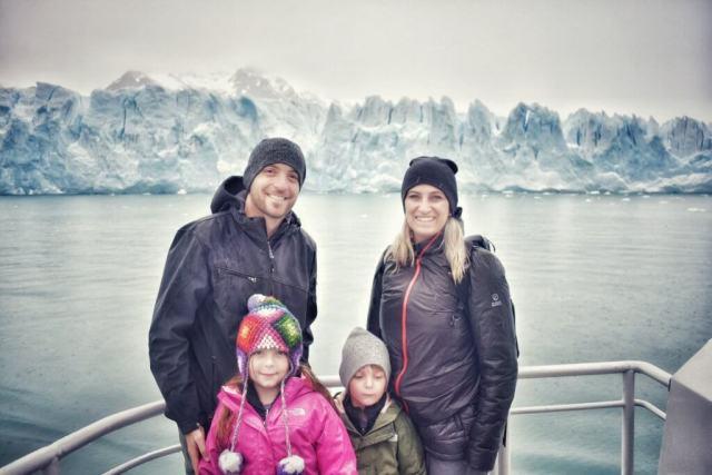 Family at Perito Moreno Glacier
