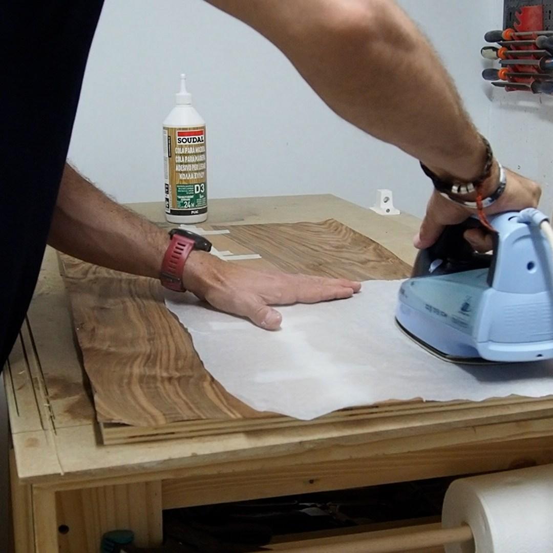 Laminar madera con plancha