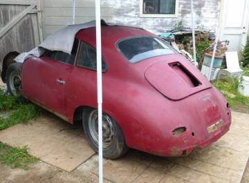 1959 porsche 356a super coupe ruby red